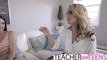 MILF Teacher Gets Hot Teen Pussy And Cock