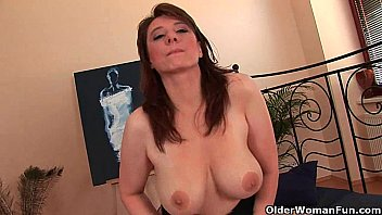 Busty older woman tgp Busty older woman unloads a cock in her face