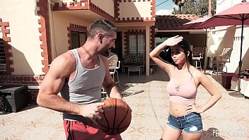 Big Boob Jade Kush Scores A Big Cock For Her Asian Pussy After A Basketball Game