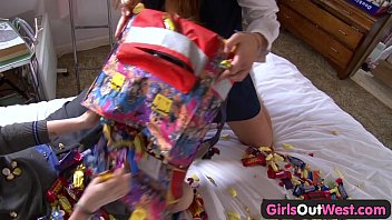 Girls Out West - Hairy lesbians horny after school
