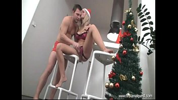 FirstAnalQuest.com - BIG ASS FUCKING WITH A CUTE BLONDE ON CHRISTMAS DAY - 69VClub.Com