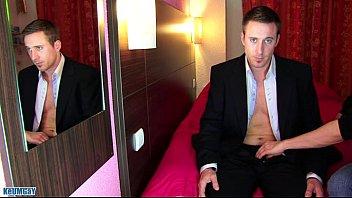 Marc a real Str8 banker get wanked his huge cock in spite of him!