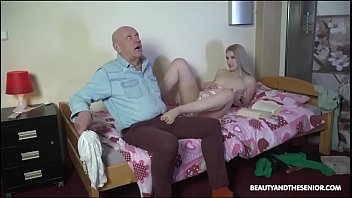 Pussy worn out - Grandpa cums in babes mouth one last time