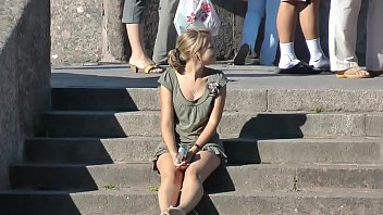 Upskirt Teen Panties On Steps