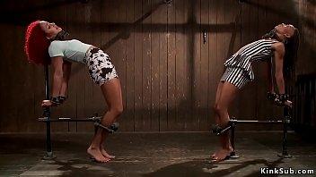 Ebony lesbian s laves anal fucked ed