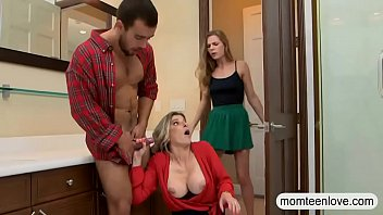 Teen busted milf sucking off her BFs rod