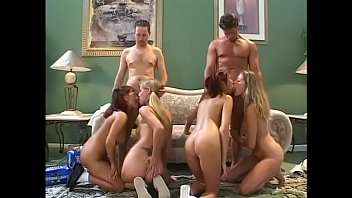 Blond gets fucked by 2 guys Randy cock sucking babes gets fucked by 2 guys in group sex then jizzed