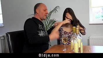 Hot brunette teen and old italian guy femdom playing 6 min