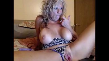 naughty blonde milf masturbating