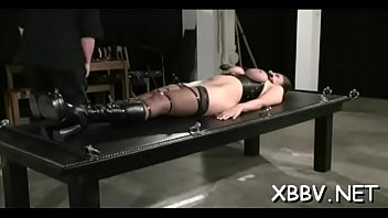 Seductive bimbo is sitting on her sex tool