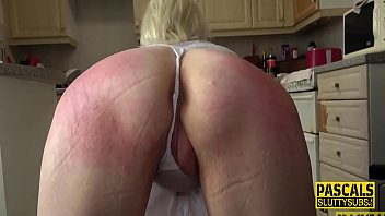 Whipped and gagged mature submissive slut