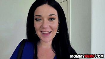 Brunette milf mom asks step son for a fuck thumbnail