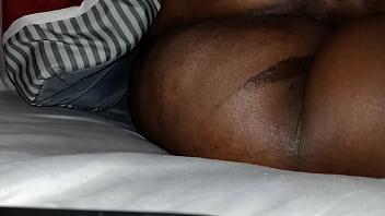 Fingering bigg Ass while she sleep