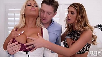 Lascivious bandmates Bridgette B. &amp_ August Ames share pianist'_s hard dick