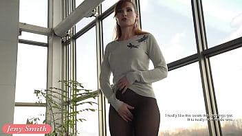 Jeny Smith transparent leggings flashing - 69VClub.Com