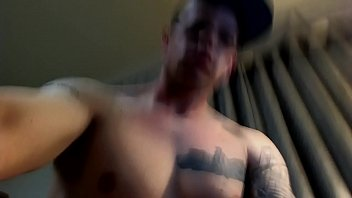 Military guy masturbates and tries to be quiet.