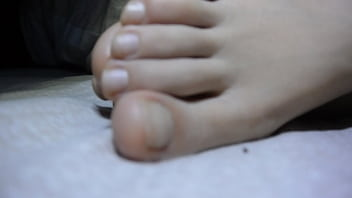 cum on sleeping chinese gf feet