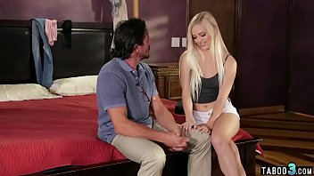 Kinky blonde  teen proves to stepdad that she grown up