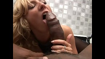 When a housewife is bored, a black cock is around the corner