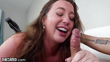 Throated - Maddy O'Reilly Covered In Spit & Slobber