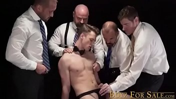 Younger Sub Guys Ass Used For Raw Dicking In A Group Sex