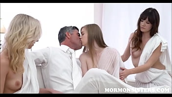 Mormon Teen & Two Sisters Have Sex With Her Husbands Dad The Church President While Husband Watches