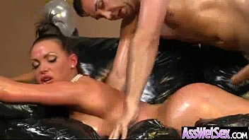 Anal Intercorse With (nikki benz) Curvy Butt Girl Oiled Up clip-23
