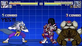 Gundog and Jon Talbain vs MrBear and Weregarurumon Bara Battle