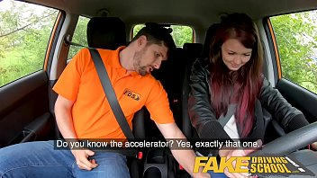 Fake Driving School Big cock Instructor bonnet fucks and licks