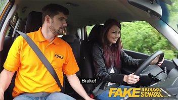 Fake Driving School Big cock Instructor bonnet fucks and licks