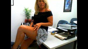 Horny Milf Masturbates in Her Office