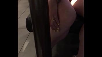 Horny wife at McDonald's