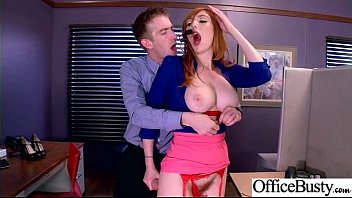(Lauren Phillips) Round Huge Tits Office Girl Enjoy Hard Intercorse clip-17