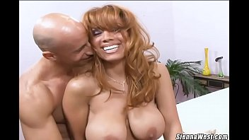 Hot mom Sienna West gets a fat dick sex and facial