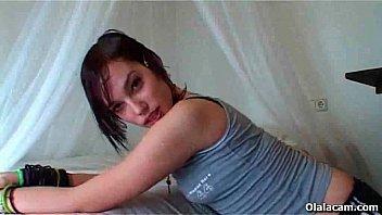 Cute emo spanish teen striping and masturbating on webcam - Olalacam