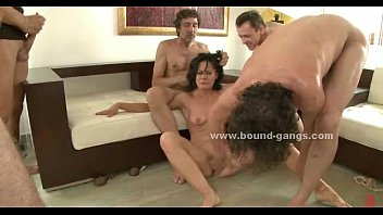 Gang bang forced sex - Brunette sexy delicious slut forced to suck and fucked in extreme group sex