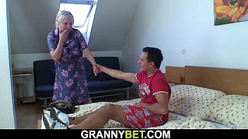 He picks up and fucks big boobs grandma