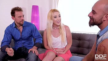 Intense XXX threesome with blondie Samantha Rone DP'_ed by 2 big hard dicks
