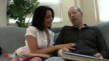 Hairy latina babe fucked by her teacher