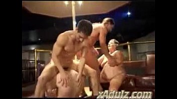 Fat Grannies Having Nasty Sex in a Strip Club with Horny Young Studs