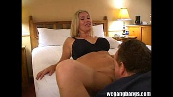 Blonde Sexy Slut Enjoying Multiple Dicks Gangbang