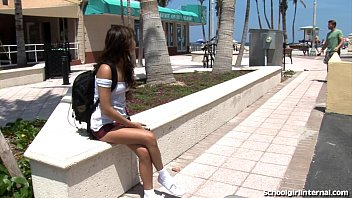 Cute Schoolgirl Takes Massive Creampie
