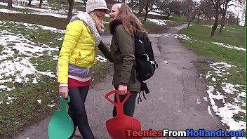 Masturbating teen lesbian