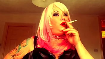 Chubby Brit Domme Tina Snua Smokes A Superking Cigarette While Talking