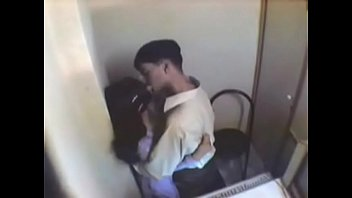 indian girl having fun with her boyfriend in internet cafe