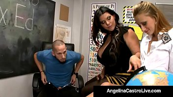 Cuban BBW Angelina Castro Shows Tara Lynn How to Suck Cock!