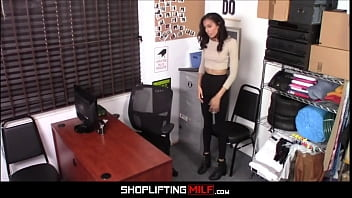Petite Black MILF Kylie La Beau Caught Shoplifting Jewelry Fucked To Orgasm By White Officer thumbnail