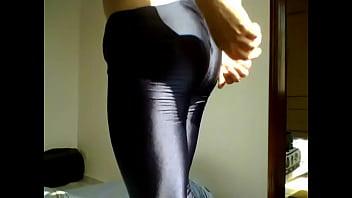 Gay men wearing spandex Shorts lycra shiny