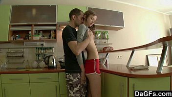 Skinny Teen Gets Anal In Kitchen After Cleaning