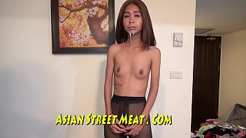 Flat Titties And Wet Asian Cunt